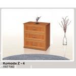 Zet 4 Komoda 77 cm