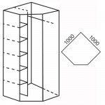 Flexy – Szafa narożna 100x197,5 (FX 20)