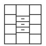 ADAM – Komoda 3SZ 2D 110 (2W3S)