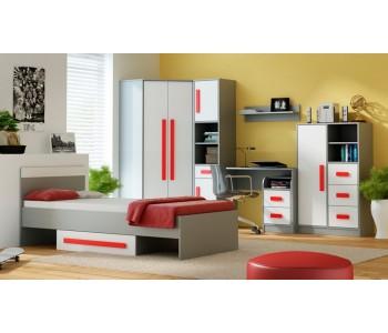 GIT - Sypialnia czerwień bez materaca