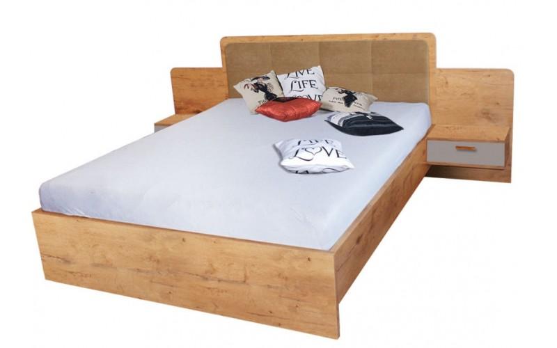 EFFECT - Łóżko 160  cm z materacem bez pojemnika (EF4)