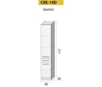 Kuchenna szafka wysoka CREATIVA-19D (40) KOMIN