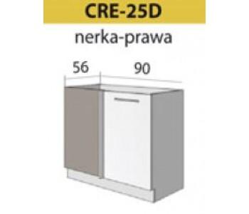 Kuchenna szafka dolna narożna prawa CREATIVA-25D (90/56)