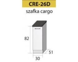 Kuchenna szafka dolna CREATIVA-26D (30) z koszem CARGO