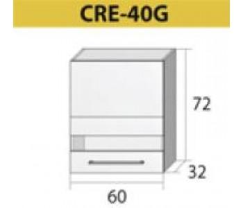 Kuchenna szafka górna z szybą CREATIVA-40G (60)