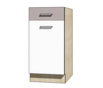 """GLOBAL - Kuchenna szafka dolna z szufladą i półką GLO-2D """"40"""""""
