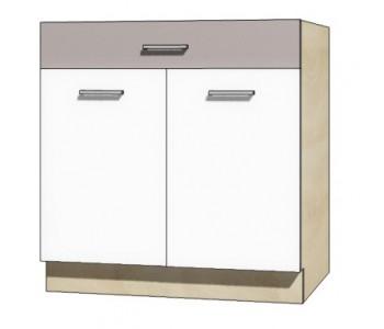 """GLOBAL - Kuchenna szafka dolna z szufladą i półką GLO-6D """"80"""""""
