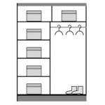 DOME - Szafa przesuwna 150 x 216  2D (DO3-15)