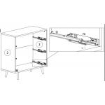 BRILLO GM – Komoda 90 cm (K3S)