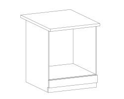 ROYAL – Kuchenna szafka dolna na piekarnik 60 (D60ZK)