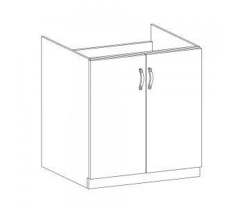 LUNA GM – Kuchenna szafka zlewozmywakowa 80 (D80Z)
