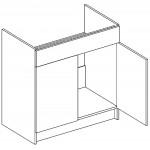 ROYAL – Kuchenna szafka zlewozmywakowa 80 (D80Z)
