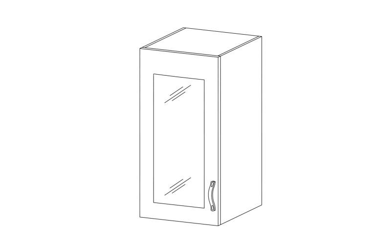 ROYAL – Kuchenna szafka wisząca 40 ze szkłem (G40S)