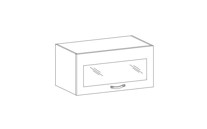 PROWANSJA GM – Kuchenna szafka wisząca 60 ze szkłem (G60KSN)