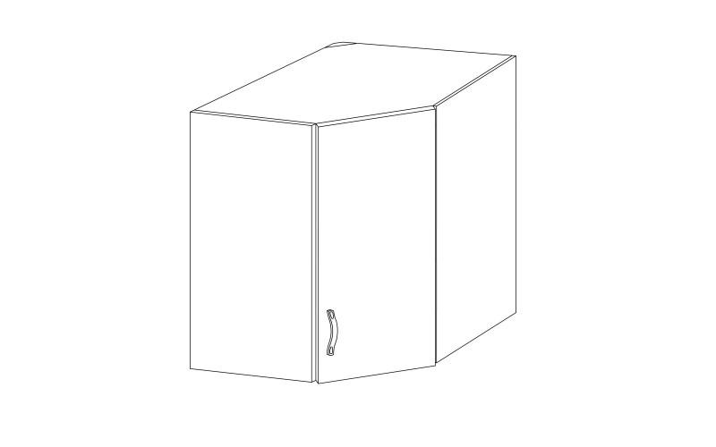 PROWANSJA GM – Kuchenna szafka wisząca narożna 60 (G60N)