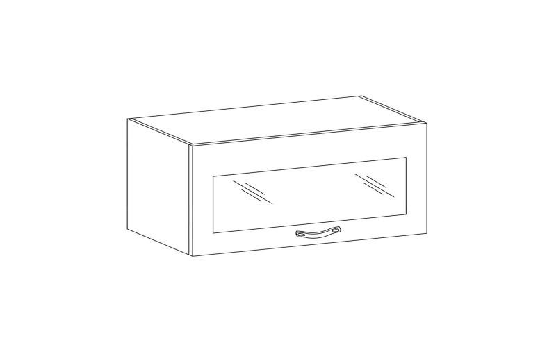 PROWANSJA GM – Kuchenna szafka wisząca 80 ze szkłem (G80KS)