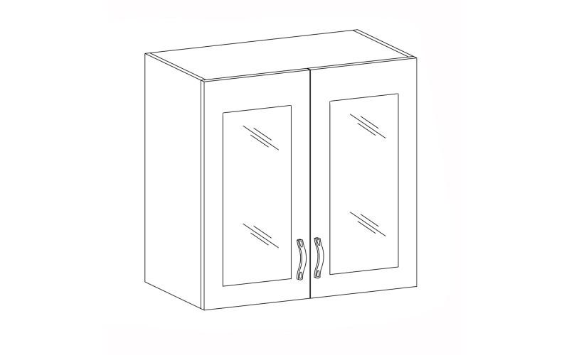 PROWANSJA GM – Kuchenna szafka wisząca 80 ze szkłem (G80S)