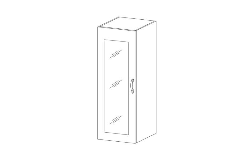 ROYAL – Kuchenna szafka stojąca 40 ze szkłem (W40S)