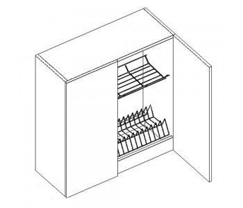 SYCYLIA GM – Kuchenna szafka wisząca 80 z ociekarką (G80C)