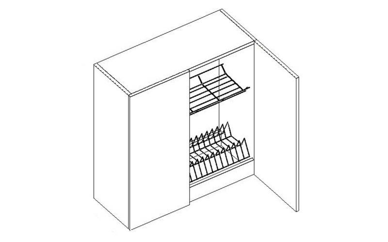 PROWANSJA GM – Kuchenna szafka wisząca 80 z ociekarką (G80C)
