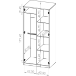 BONO - Szafa uchylna 90 cm 2D