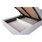 CALABRINI - łóżko eco skóra bez materaca 160 x 200 cm
