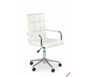 GONZO 2- fotel młodzieżowy obrotowy biały