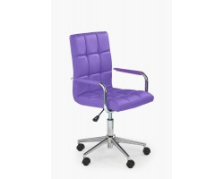 GONZO 2- fotel młodzieżowy obrotowy fioletowy