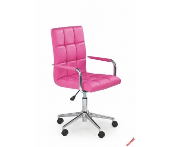 GONZO 2- fotel młodzieżowy obrotowy różowy