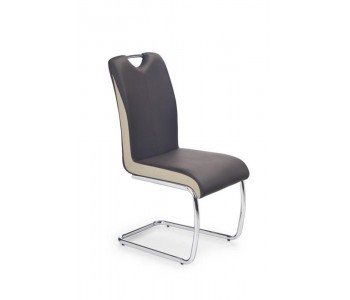 K184 krzesło ciemny brąz - champagne