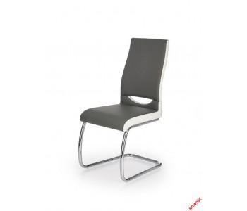 K259 krzesło popielato - białe