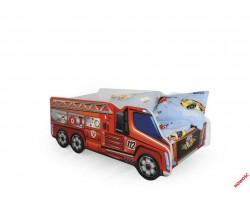 Fire Truck - Łóżko dziecięce z materacem