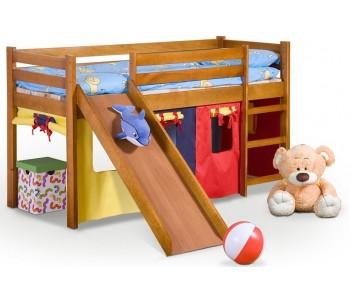 NEO PLUS - Łóżko ze zjeżdalnią i materacem