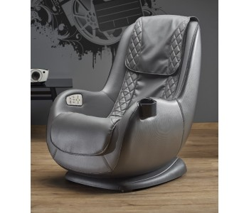 Dopio - fotel wypoczynkowy popiel  z funkcją masażu