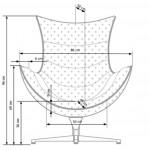 LUXOR - fotel brązowy