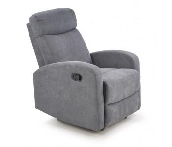 OSLO - fotel wypoczynkowy rozkładany ciemny popiel