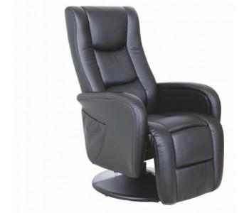 PULSAR - fotel wypoczynkowy czarny  z funkcją masażu