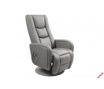 PULSAR - fotel wypoczynkowy popiel  z funkcją masażu