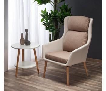 PURIO - fotel beżowo - brązowy