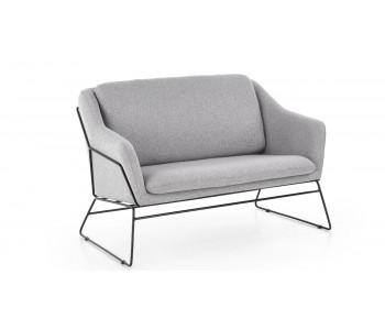 SOFT 2 - fotel podwójny wypoczynkowy jasny popiel / czarny