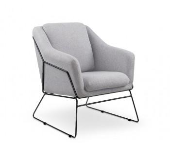 SOFT 2 - fotel wypoczynkowy jasny popiel / czarny
