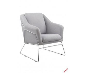 SOFT - fotel wypoczynkowy popielaty