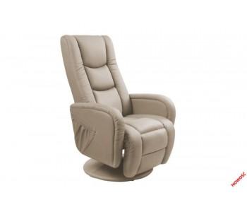 PULSAR - fotel wypoczynkowy cappuccino  z funkcją masażu