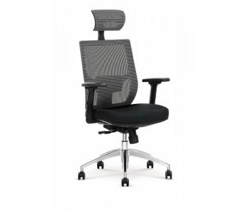 ADMIRAL - fotel obrotowy gabinetowy czarny