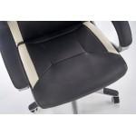 BARTON - fotel obrotowy gabinetowy czarno - biały