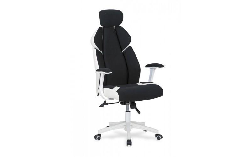 CHRONO - fotel obrotowy gabinetowy czarno - biały