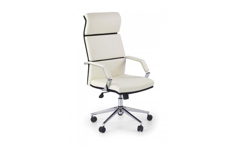 COSTA - fotel obrotowy gabinetowy biało - czarny