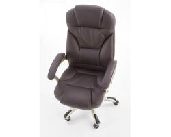 DESMOND- fotel obrotowy gabinetowy ciemny brąz