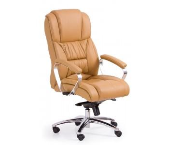 FOSTER-  fotel obrotowy gabinetowy jasny brąz