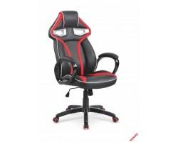 HONOR - fotel obrotowy gabinetowy czarno - czerwony